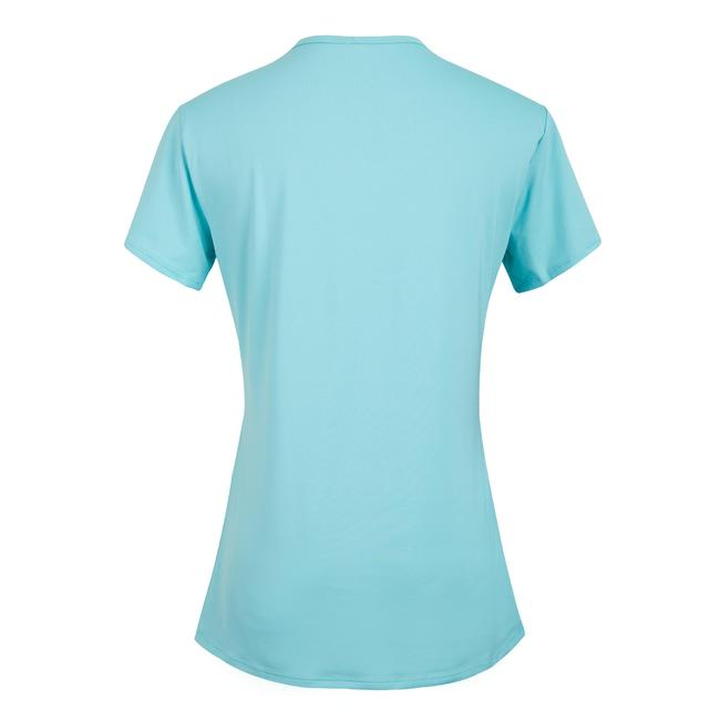 Women's Polyester Round Neck Fitness T-Shirt - Blue