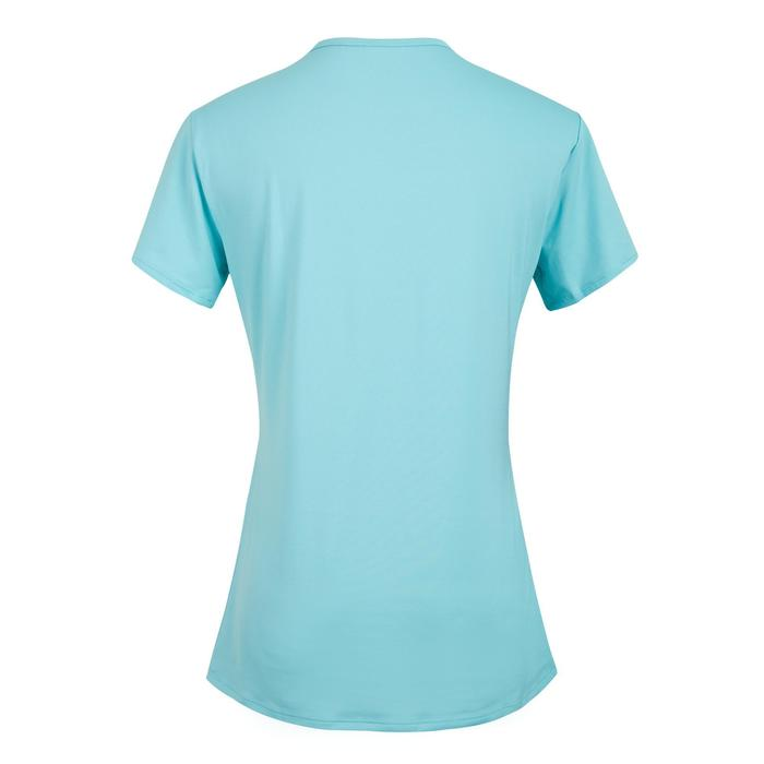 女款有氧健身T恤100-藍色