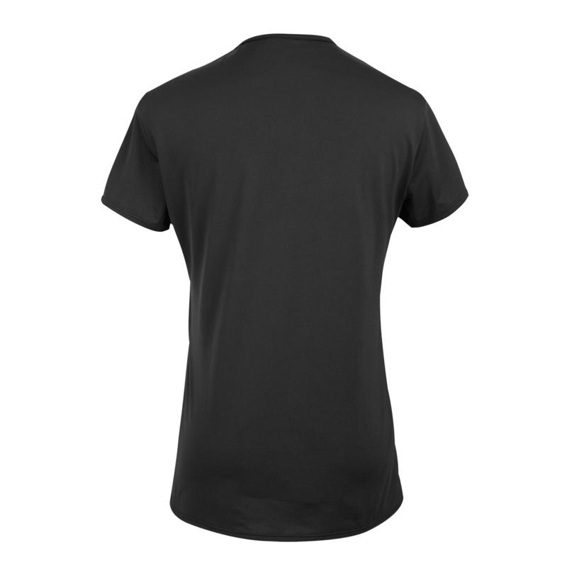 100 Women's Fitness Cardio Training T-Shirt - Black