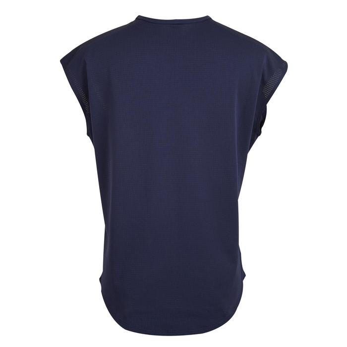 120 Women's Cardio Fitness T-Shirt - Navy Blue Satin-Effect Print