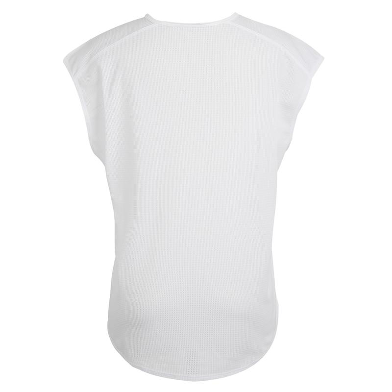 120 Women's Cardio Fitness T-Shirt - White Print
