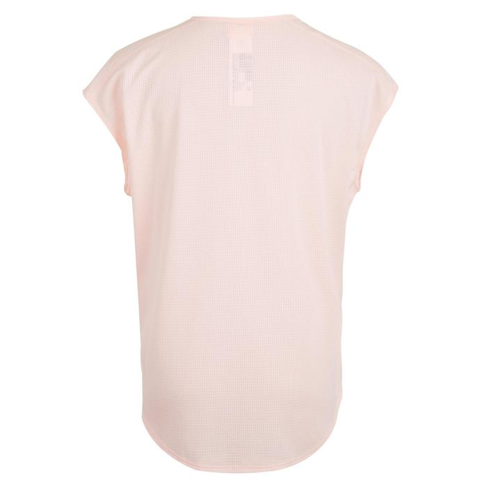 120 Women's Cardio Fitness T-Shirt - Light Pink Satin-Effect Print