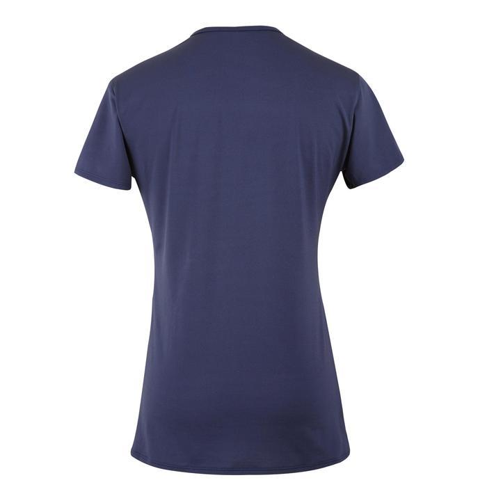 女款有氧健身T恤100-海軍藍