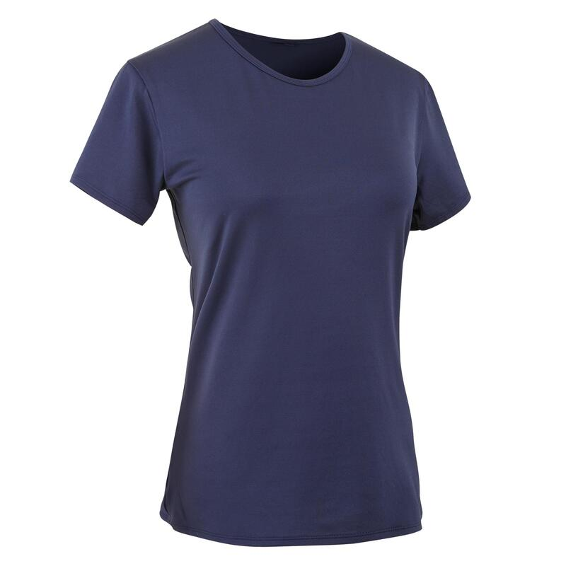 100 Women's Fitness Cardio Training T-Shirt - Navy Blue