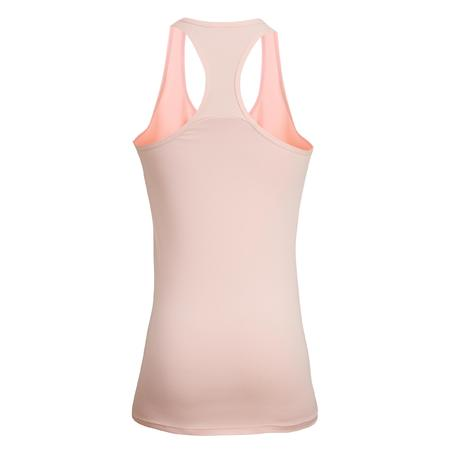 100 Women's Fitness Cardio Training Tank Top - Pale Pink