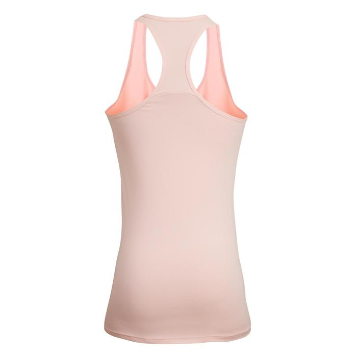 100 Women's Fitness Cardio Training Tank Top - Pale Pink