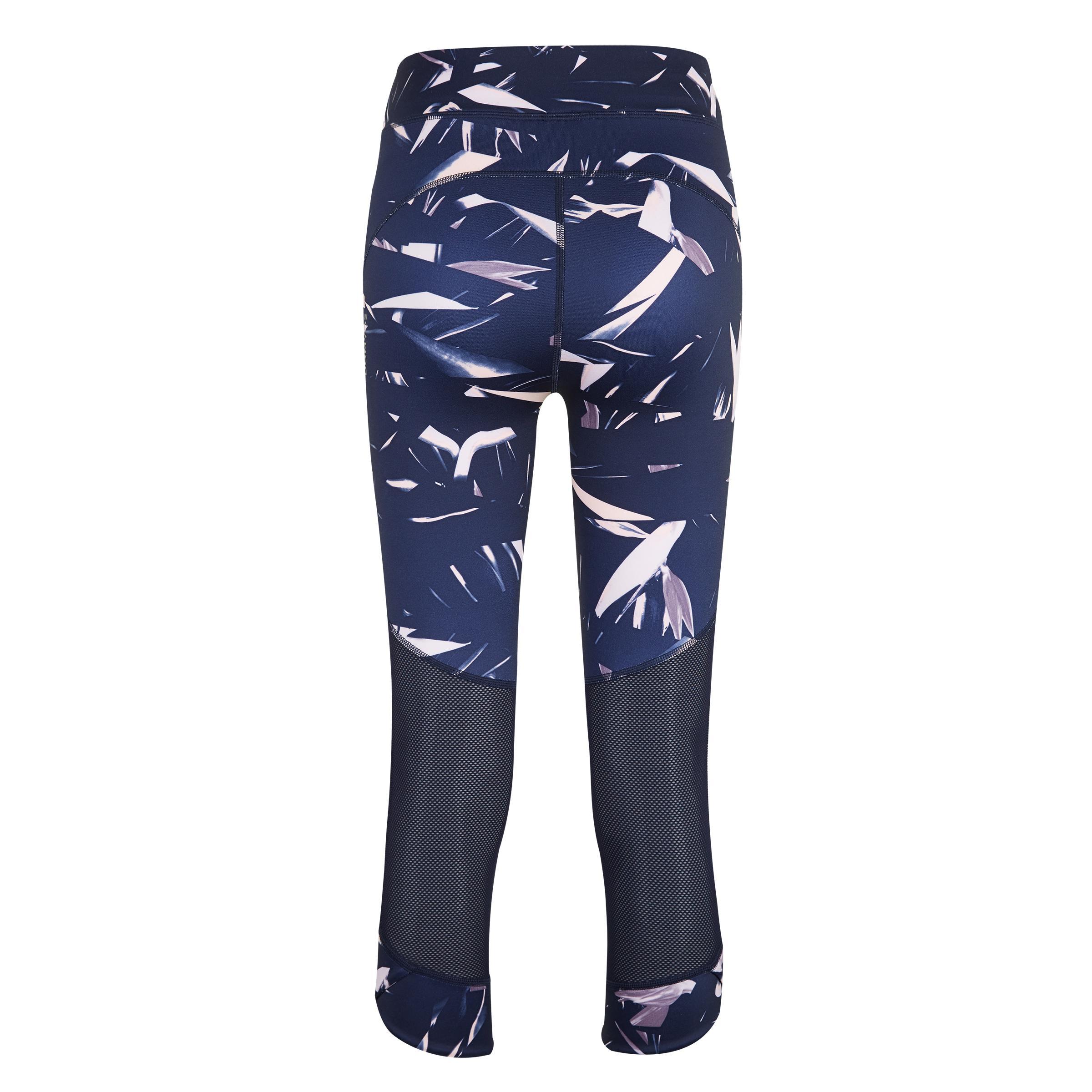 กางเกงเลกกิ้งผู้หญิงขา 7/8 ส่วนสำหรับคาร์ดิโอรุ่น 500 (สีกรมท่า)