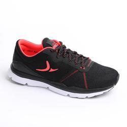 女款有氧健身訓練鞋500-黑色/珊瑚紅