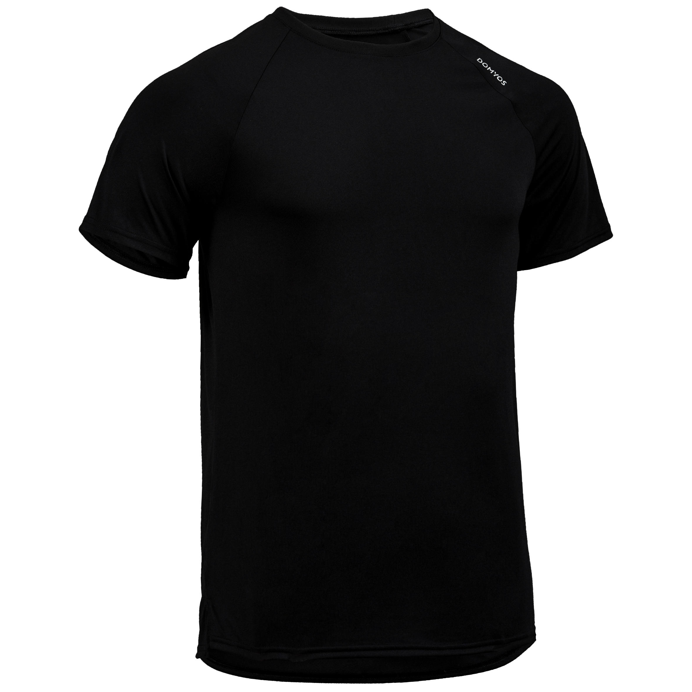 FTS 100 Cardio Fitness T-Shirt - Mottled Black