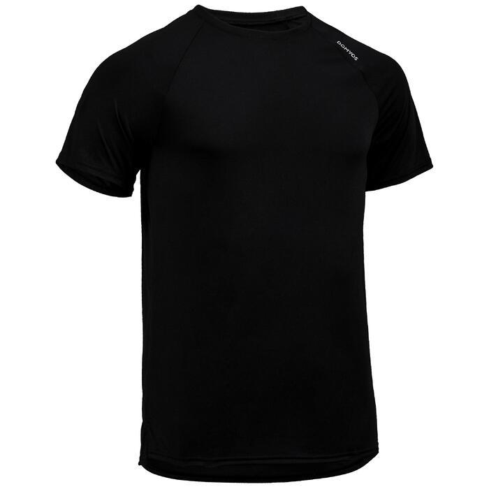 有氧健身T恤FTS 100-刷色黑