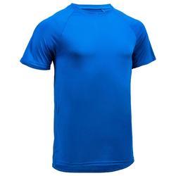 有氧健身T恤FTS 100-刷色藍
