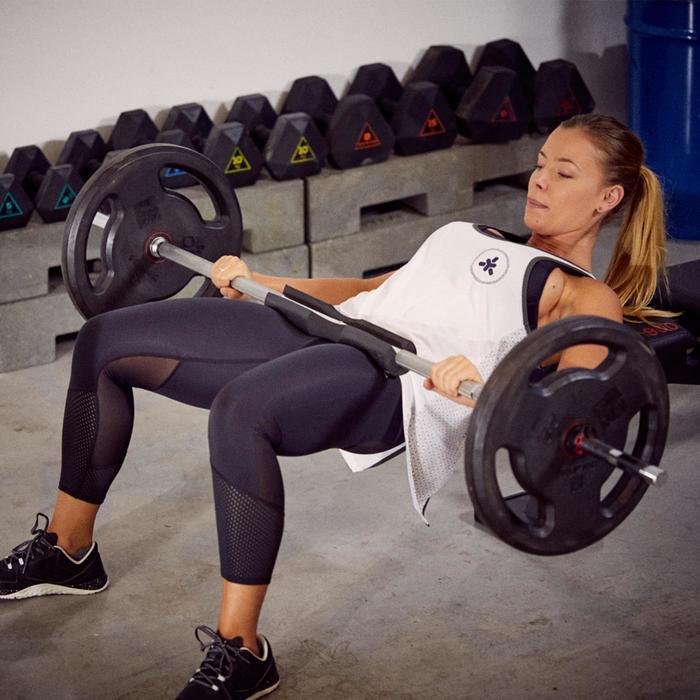 Manguito sentadillas Domyos negro - Elevación de la cadera (Hip trust)