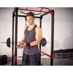 Camiseta Sin Mangas Tirantes Cross Training Musculación Domyos Hombre Negro