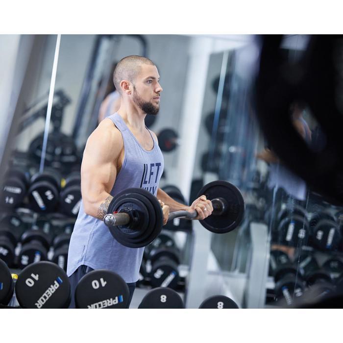 Fitness tanktop voor heren, blauw