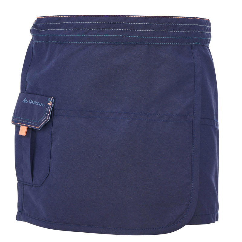 Kids' Hiking Skort - MH100 KID Aged 2-6 - Navy Blue