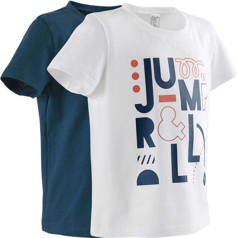 BABY GYM APPAREL - 100 Short-Sleeved T-Shirts DOMYOS