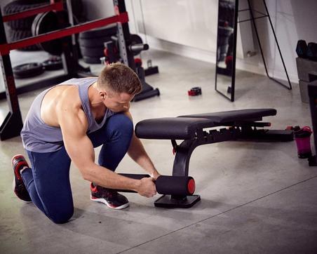 Banc de musculation renforcé inclinable et déclinable