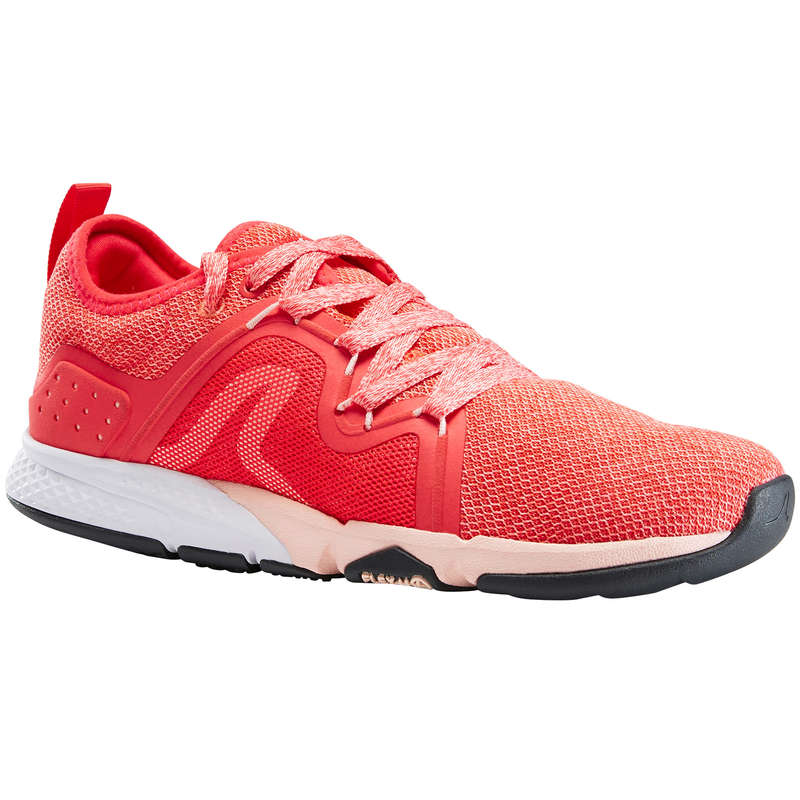WOMEN SPORT WALKING SHOES Hiking - PW 540 Flex-H+ - Coral NEWFEEL - Outdoor Shoes