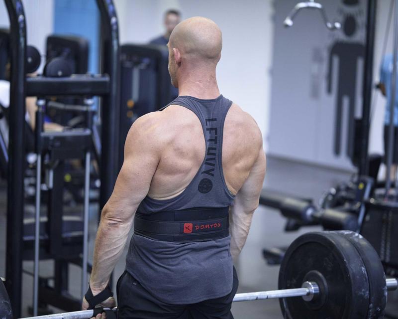 Weight Training Lumbar Support Belt - Polyester Black
