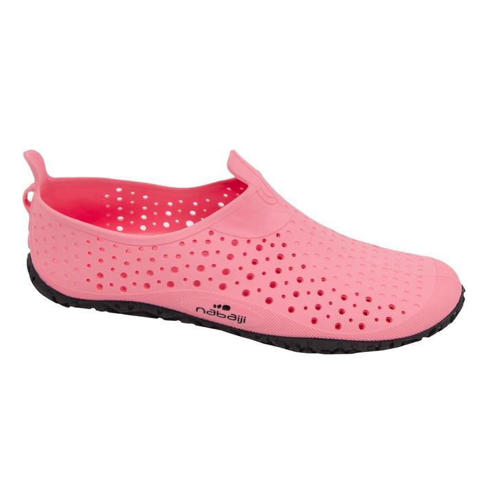 Schoenen aquagym aquafitness Aquadots roze grijs