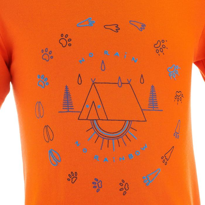 T-shirt de randonnée enfant MH100 orange