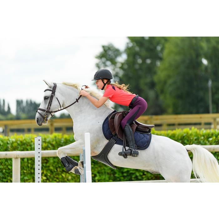 Mantilla de silla equitación poni y caballo Strass azul marino
