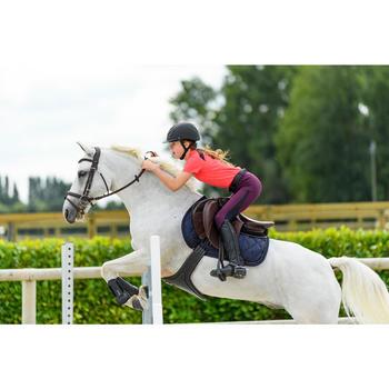 Schabracke 500 Pony/Pferd Strass marineblau