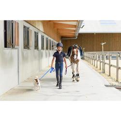 Pantalon équitation enfant 500 MESH bleu turquin et marine