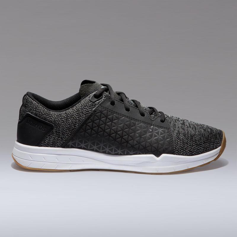 รองเท้าสำหรับการออกกำลังกายแบบคาร์ดิโอรุ่น 500 (สีเทา/ดำ)