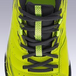 青少年硬地足球鞋 ESKUDO 500 黃色