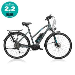"E-Bike 28"" Trekkingrad Riverside 500 Damen Performance Line 400Wh grau/blau"