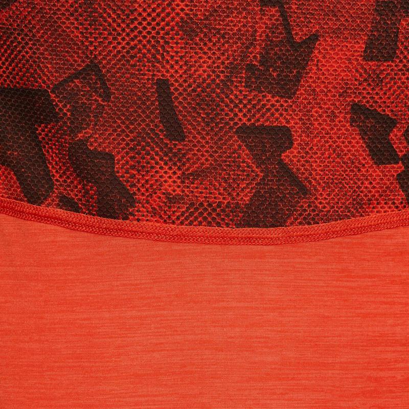เสื้อยืดแขนสั้นเด็กผู้ชายระบายอากาศได้ดีสำหรับกายบริหารรุ่น S900 (สีส้ม)
