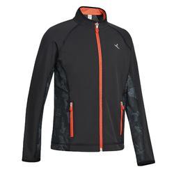 男童透氣輕盈健身外套S900 - 黑色/橘色細節