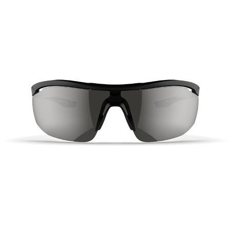 RUNPERF CATEGORY 3 ADULT RUNNING GLASSES - BLACK/WHITE