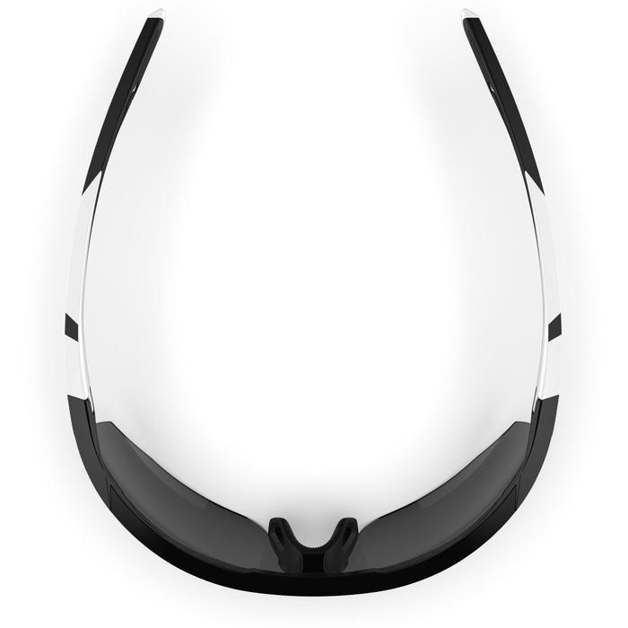 Lunettes de running adulte RSG 500 noires blanc catégorie 3