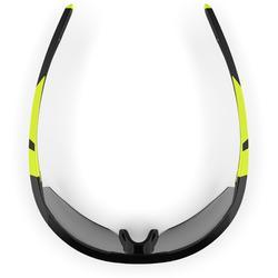 Hardloop zonnebril Runperf fotochromatisch categorie 1-3 zwart/fluogeel