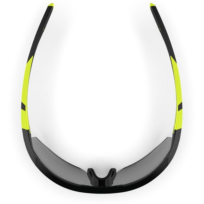 Hardloopbril volwassenen Runperf fotochromatisch categorie 1-3 zwart/fluogeel