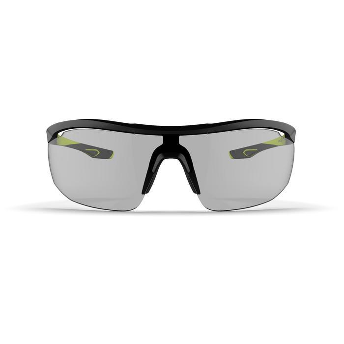 Sonnenbrille Laufsport Runperf Photochrom Kat.1–3 Erwachsene schwarz/neongelb