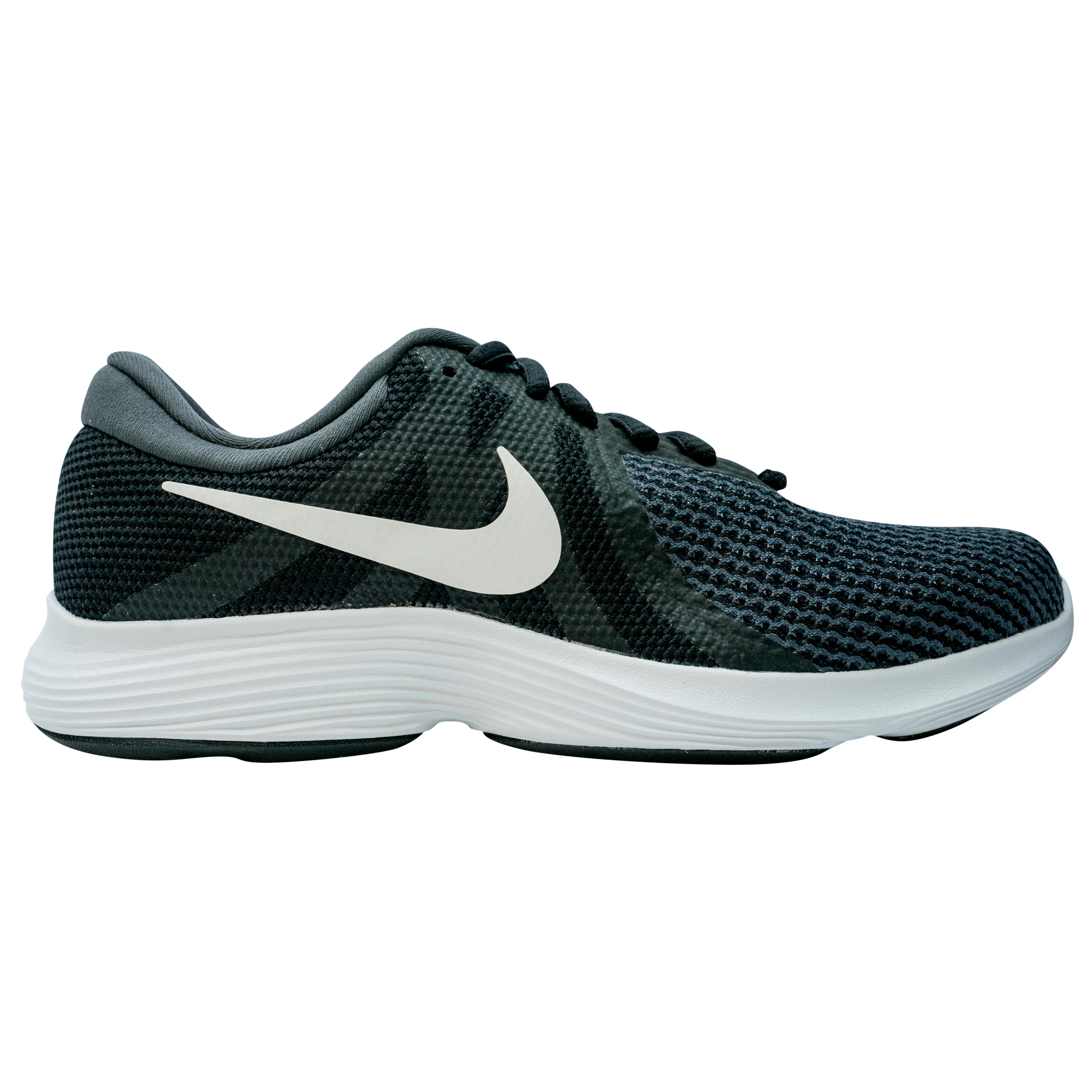 sports shoes 97e2e 59ed2 Zapatillas marcha deportiva para mujer Revolution 4 negro   blanco Nike    Decathlon