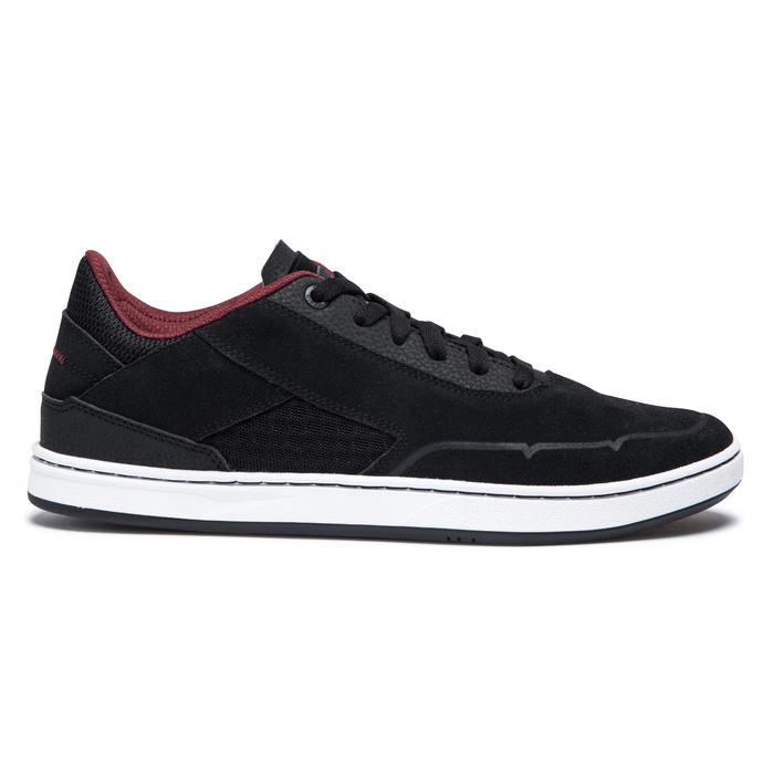 Chaussures basses (cupsoles) de skateboard adulte CRUSH 500 noire/bordeaux