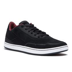 Skateschuh Sneaker Crush 500 Cupsoles Erwachsene schwarz/bordeaux