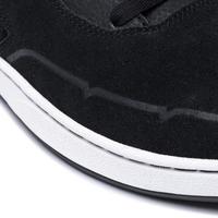 Tenis de tobillo bajo (cupsoles) de skateboard. Adulto CRUSH 500 negro/burdeo