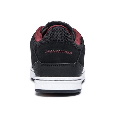 Chaussures basses (concaves) de planche à roulettes adulte CRUSH500 noir/bordea