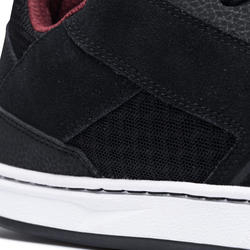 Zapatillas de caña baja (cupsoles) de skateboard adulto CRUSH 500 negro/burdeos