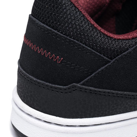 Crush 500 Adult Low-Top Cupsole Skate Shoes - Black/Burgundy