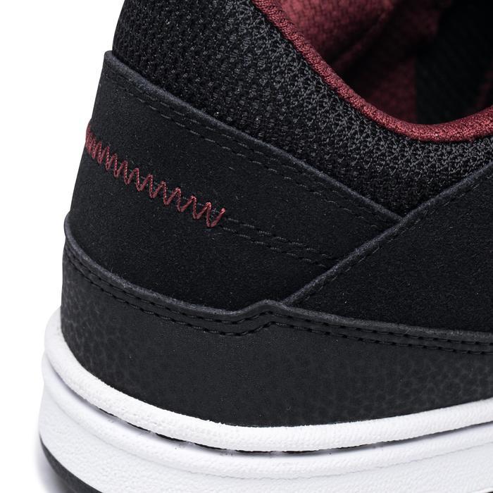 Chaussures basses (cupsoles) de skateboard adulte CRUSH 500 noire / bordeaux