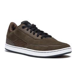 Zapatillas de caña baja de skateboard adulto CRUSH 500 caqui