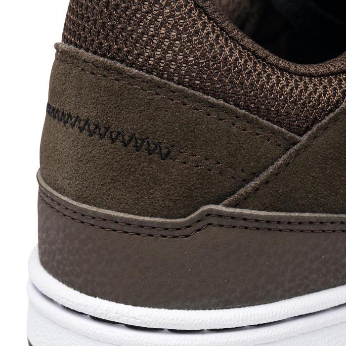 Zapatillas de caña baja (cupsoles) de skateboard adulto CRUSH 500 caqui
