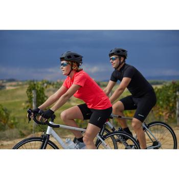 Kurze Radhose Rennrad RC 100 Damen schwarz
