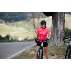 MAILLOT VELO MANCHES COURTES 100 FEMME ROSE
